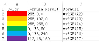 excel vba custom function to get rgb color