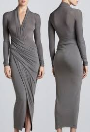 Draped Long Sleeve Dress Shop For Cool Jersey Draped Long Sleeve Dress By Donna Karan At