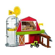 Tractor Barn Amazon Com Matchbox Farm Adventure Playset Tractor Barn Silo