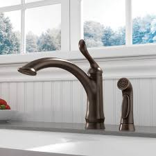 delta bronze kitchen faucet delta linden single handle side sprayer kitchen faucet in venetian