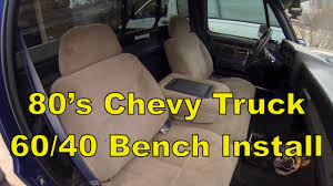 Classic Ford Truck Bench Seats - c10 chevy truck install a split 60 40 bench seat 73 87 c10 r10