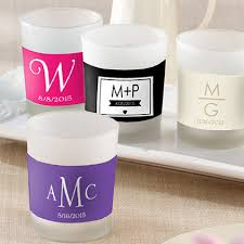 personalized candle wedding favors personalized frosted glass votive monogram candle holder wedding