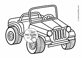 transportation coloring pages for kids printable at jeep coloring