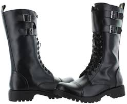 s boots combat volatile tank s buckle combat boots faux leather ebay