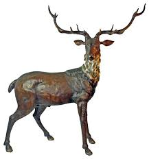 bronze deer elk special patina traditional decorative