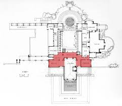 frank lloyd wright style home plans f l wright coonley house plan illinois 1908 frank lloyd plans