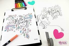 10 free typographic coloring pages dawn nicole designs