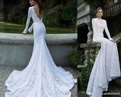 berta bridal mermaid 2015 lace wedding dresses with long sleeves