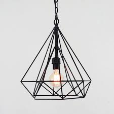 Wire Pendant Light Geometric Wire Cage Pendant Light Tudo Co Tudo And Co