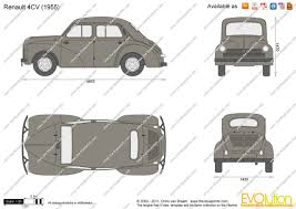 1959 renault 4cv the blueprints com vector drawing renault 4cv