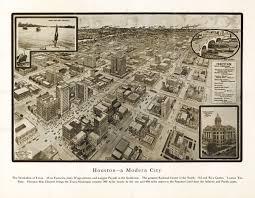 Map Houston Vintage Map Houston Texas 1912