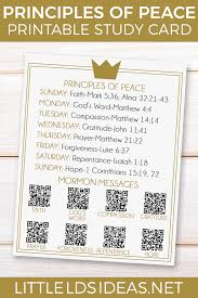 lds thanksgiving prince of peace study card free printable from little lds