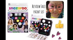 review snazaroo party face paint 12 color youtube