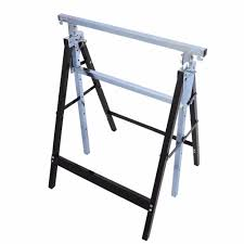 new 4pc telescopic trestle saw horse foldable work bench steel