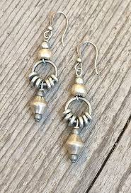 s hypoallergenic earrings silver drop earrings ethnic earrings tribal jewelry silver