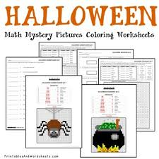 halloween place value activities math coloring pages tpt