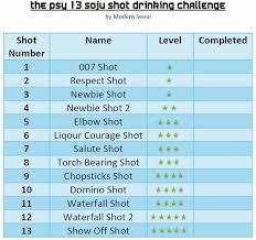 printable drinking games for adults psy 13 shot soju challenge drinking game with video modern seoul