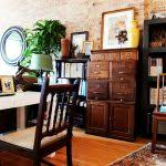 Rustic File Cabinet Rustic Industrial Office Home Office Eclectic With Hardwood Floors