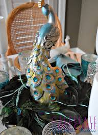peacock centerpieces peacock tablescape for christmas celebrate decorate