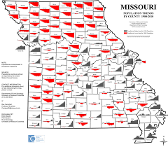 missouri map by population college of agriculture food and resources population