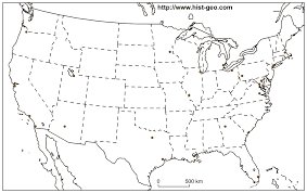 Usa Map With Cities And States by Us States And Cities Blank Map