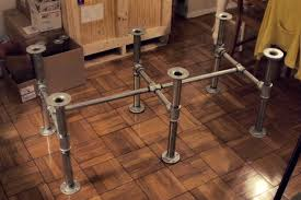 diy industrial galvanized pipe desk make the base from pipe parts