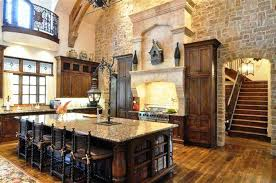 tuscan decorating ideas with brick room walls and ceramic table