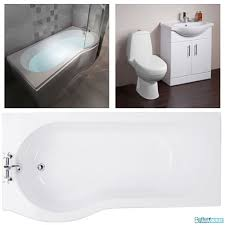 wc toilet basin sink storage vanity unit p shape shower bath bathroom suite including the jet compact wc toilet a choice of classic basin storage combination units along with the p shaped shower bath available in