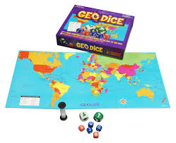 India On The World Map by Geodice Board Game New Internationalist Australia Fair Trade Shop