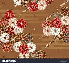 japanese style floral pattern chrysanthemums stock vector