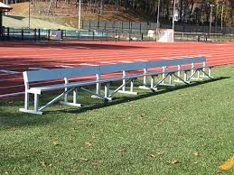 Field Bench Aluminum Team Benches Portable Semi Permanent