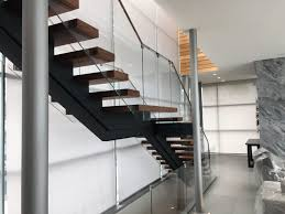 Glass Stair Rail by Glass Fencing Tri State Glassworks