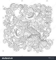 cartoon cute doodles hand drawn winter stock vector 503123563