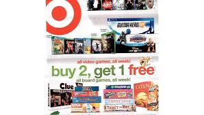 black oops 3 target black friday sale target ad reveals buy two get one free video game sale