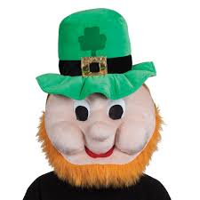 irish leprechaun st patricks day mask giant head comedy emoji