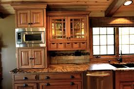 mission style hickory kitchen cabinets home design ideas