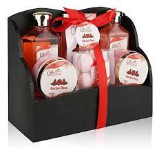 Graduation Gift Basket Spa Gift Basket With Heavenly Garden Rose Fragrance Gift Set