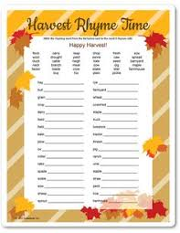 Thanksgiving Charades Word List For The Adults Match Song Titles To The Clues Given And Each