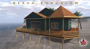 beach bungalow and furniture for collabor88 may trompe loeil