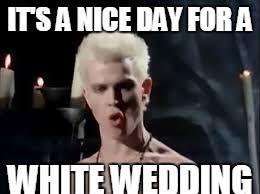 Wedding Meme - image tagged in billy idol white wedding imgflip