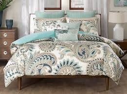 Paisley Comforters King Size 3 Piece Cotton Abstract Paisley Comforter Set Blue