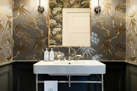 gorgeous beautiful wallpaper inspirations for your powder room for