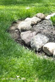 Rock Borders For Gardens Rock Borders For Landscape How To Maintain A Garden Rock Border On
