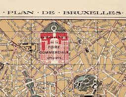 map brussels map of brussels bruxelles belgium 1924 maps and vintage
