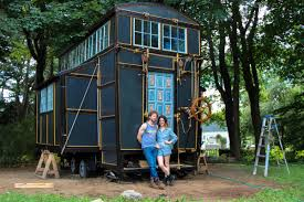 tiny house big living steampunk steamer trunk a tiny house contraption on wheels new