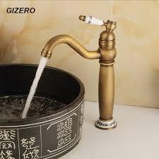 Online Get Cheap German Faucet Aliexpress Com Alibaba Group Retro Bathroom Luxury Ceramic Faucet Solid Brass Antique Finish