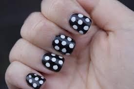 46 wonderful polka dot nail in black u0026 white art design picsmine