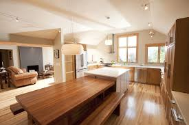 Kitchen Island With Attached Table Table Attached To Island Kitchen Contemporary With Ceiling