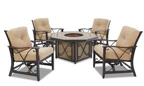 Solaris Designs Patio Furniture Solaris 6 Pc Patio Dining Set With Outdoor Pit Table The