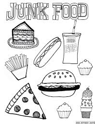 coloring pages snacks coloring pages getcoloringpages food